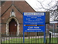 TM2245 : St.Michael's Catholic Church, Kesgrave Notice Board by Adrian Cable