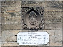 NS4075 : William Froude memorial on facade of museum by Lairich Rig