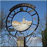 TQ9239 : Bethersden Village Sign, Bethersden, Kent by Oast House Archive