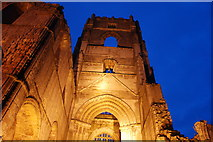 SE2768 : The tower at Fountains Abbey at dusk by Alan Ford
