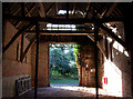 TG3109 : Barn interior at Witton Hall Farm by Martin Thirkettle