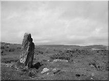 NR7027 : Standing Stone below Skeroblin Cruach by Rob