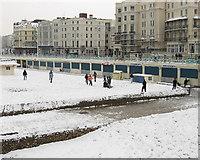 TQ3103 : Snowball Fight, Brighton Beach by Simon Carey