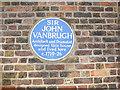 TQ3977 : Blue plaque to Sir John Vanbrugh by Stephen Craven
