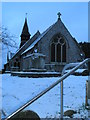 SU6505 : St Peter and St Paul  in the snow by Basher Eyre