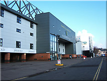 TG2407 : Jarrold Stand and Holiday Inn, Carrow Road by Martin Thirkettle