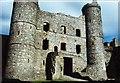SH5831 : Harlech Castle Keep by Jeff Buck