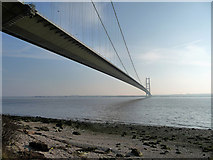 TA0225 : Humber Bridge from the Hessle Foreshore by David Wright