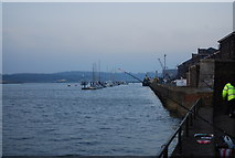 TQ7568 : Boats moored on the River Medway, North of Gun Wharf, Chatham by N Chadwick