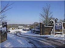 TQ2996 : Entrance to Trent Park Equestrian Centre by Christine Matthews