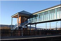 SS7597 : Footbridge, Neath railway station by Ruth Sharville