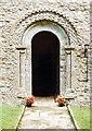 SZ5492 : St Edmund, Wootton Bridge - Doorway by John Salmon