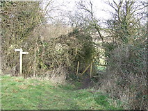 TM0949 : Footpath Junction by Keith Evans