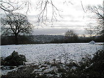 SU9850 : Melting snow at Stag Hill by Basher Eyre