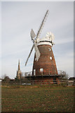TL6030 : Thaxted Mill and church by Bob Jones