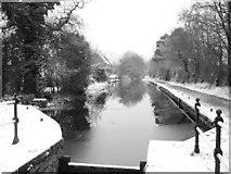 ST2896 : Snow Scene at Five Locks, Pontnewydd by Matthew Lane