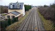 SO9262 : Railway line by Mike Dodman