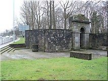 NS3975 : Remains of Dumbarton Prison by Lairich Rig