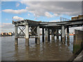 TQ3878 : Greenwich power station jetty from the west by Stephen Craven