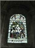SU3521 : Stained glass window within St Ethelflaeda's Chapel at Romsey Abbey by Basher Eyre