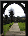 SO4510 : View to the village from the south porch by Pauline E