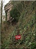 SX9265 : Closed footpath, Babbacombe by Derek Harper