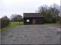 TM0843 : Sport Pavilion at the Playing Field, Hintlesham by Geographer