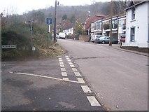 TQ6059 : North Downs Way crosses road by David Anstiss