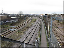 TQ2282 : View towards Willesden Junction from Harlesden High Street by Dr Neil Clifton