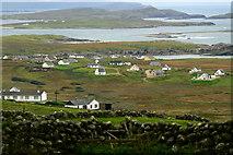 B8130 : Brinlack - homes on hillside & Gweedore Bay by Joseph Mischyshyn