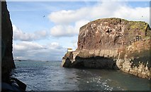 NT6779 : Entrance to Dunbar Harbour by Richard Webb