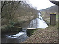 ST2213 : Reservoir outflow, Royston Water by Roger Cornfoot