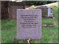 SD3389 : Arthur Ransome's Grave, Rusland Church. by Lakeland Ramblers