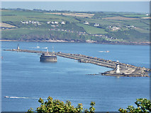 SX4650 : Plymouth Breakwater with Bovisand Bay. by Mick Lobb