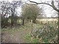SP9205 : Path junction, Ashotts Lane by Rob Farrow