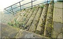 J3474 : Old steps, Donegall Quay, Belfast by Albert Bridge