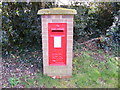TM2242 : Bucklesham Road George V Postbox, Foxhall by Geographer