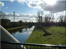 TQ1281 : View from the canal bridge located close to the Willowtree Marina by J Taylor