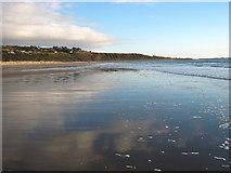 SH5630 : Harlech beach at very low tide by David Medcalf