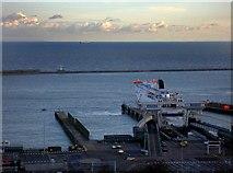 TR3341 : Dover harbour by Steve  Fareham