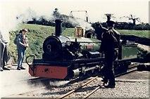 NY1700 : Dalegarth Station on Ravenglass & Eskdale Railway. Engine 'River Irt' on the turntable by Elliott Simpson