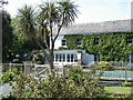 SX2251 : Talland Bay Hotel and swimming pool by Ian Cunliffe