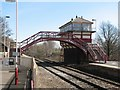 NY7063 : Signal box and line at Haltwhistle Station by Mark Hope