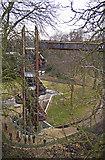 TQ1876 : Stairway to the Xstrata Treetop Walkway and Rhizotron, Kew Gardens, Surrey by Christine Matthews