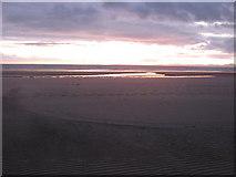 SH5631 : The evening light reveals beach features by David Medcalf