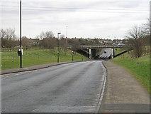 NZ2372 : A1 passing Wideopen by Richard Webb