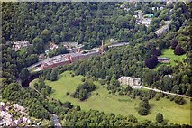 SK2957 : Masson Mills and Willersley Castle, Cromford by Richard Bird