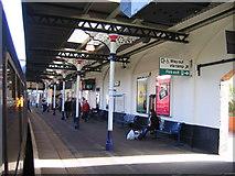 SO9322 : Cheltenham Spa Railway Station, Platform 1 by Roy Hughes