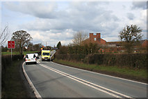 SJ6860 : Ambulance on the A530 in Minshull Vernon by Espresso Addict