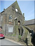 SE0028 : South end of the Methodist Chapel, Walker Lane, Chiserley, Wadsworth by Humphrey Bolton